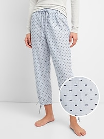 Ankle-Tie Pants in Clip-Dot