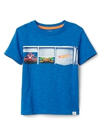 T-shirt à imprimé babyGap Hot WheelsMD