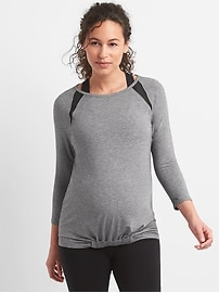 Maternity Breathe Mesh Raglan T-Shirt