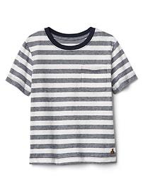 T-shirt à poche à rayures