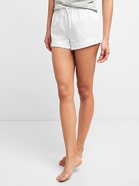 Swiss Dot Ruffle Shorts