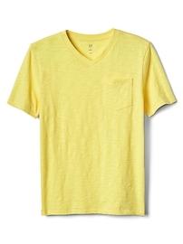 T-shirt à poche avec col en V