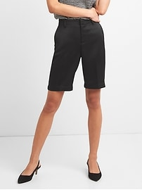 "Mid Rise 10"" Tailored Bermuda Shorts"