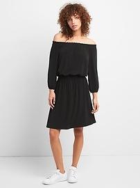 Smocked Waist Off-Shoulder Dress