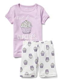 Cupcake Short Sleep Set