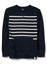 Chest-Stripe Crewneck Sweater