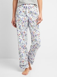 Print Sleep Pants in Poplin
