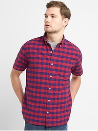 Oxford Short Sleeve Shirt in Stretch