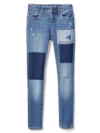 Superdenim Super Skinny Jeans in Patchwork with Fantastiflex