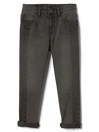 Two-Tone Girlfriend Jeans