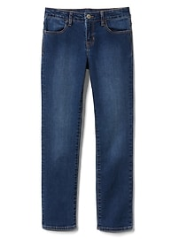Mid Rise Straight Jeans in Stretch