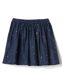Gem stud flippy skirt