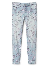 Super Skinny Jeans with Floral Print in High Stretch