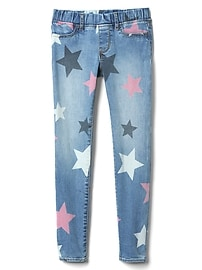 Star Print Jeggings in High Stretch