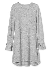 Softspun knit bell-sleeve dress