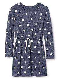 Robe à motifs d'étoiles en tricot soyeux