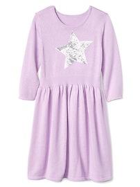 Sequin-star sweater dress