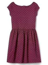 Dotty fit & flare dress
