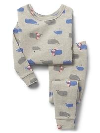 Pyjama à motifs de baleines en coton biologique