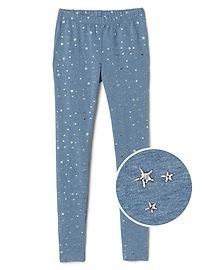 Legging étoile en tissu éponge doux