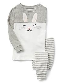 Ensemble pyjama à motifs de lapins (ensemble de 2)