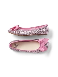 Glitter Bow Ballet Flats