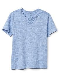 T-shirt à col cranté