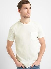 T-shirt lourd à poche à manches courtes