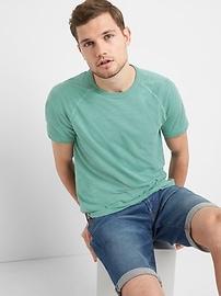 T-shirt ras du cou à manches courtes raglan