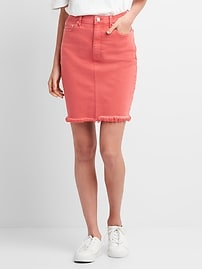 Color Denim Pencil Skirt