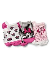 GapKids &#124 Disney Minnie Mouse No-Show Socks (3-Pack)