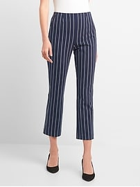 High Rise Crop Flare Pants with Bi-Stretch
