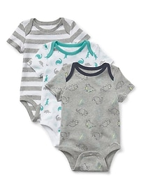 Cuddle & Play Dino Bodysuit (3-Pack)