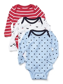 Cuddle & Play Whale Bodysuit (3-Pack)