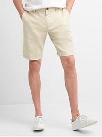"10"" Chino Shorts in Linen"