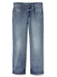 Boot Jeans in Distressed with Stretch