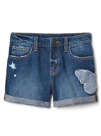 "Gap for Good 3"" Girlfriend Shorts with Butterfly in Distressed"