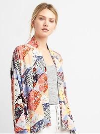 Veste kimono imprimée à patchwork
