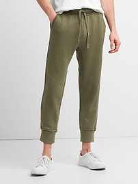 Cropped Joggers in French Terry