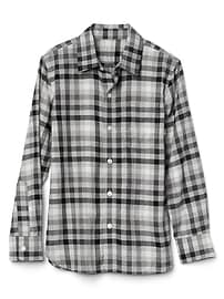 Gingham flannel long sleeve shirt