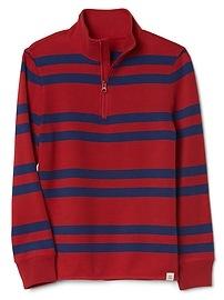 Stripe Mockneck Pullover Sweater