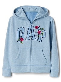 Rose Logo Hoodie in Fleece