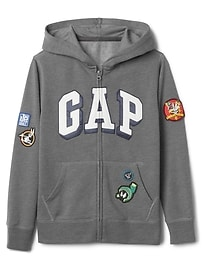 GapKids &#124 Looney Tunes logo zip hoodie