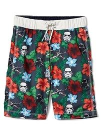 Gap &#124 Star Wars&#153 hibiscus board shorts