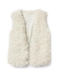 Curly faux fur vest