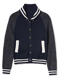 Stripe Varsity Jacket