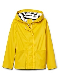 Jersey-lined raincoat