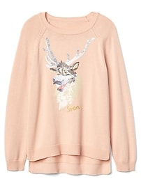 GapKids &#124 Disney Frozen Hi-Lo Sweater