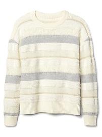 Mix-texture stripe sweater