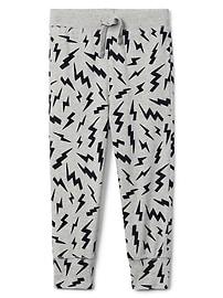 Print Pull-On Pants
